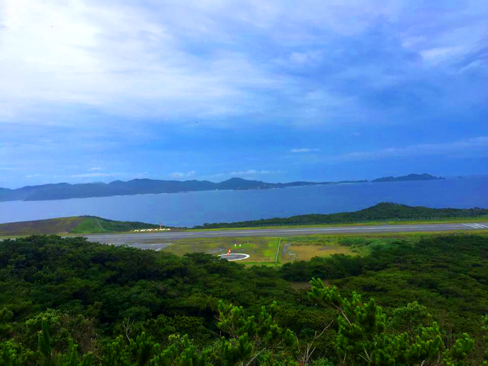 Kerama airport from Fukaji Island observatory